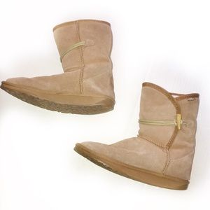 EMU TOGGLE BUTTON FUR LINED BOOTS SZ 8
